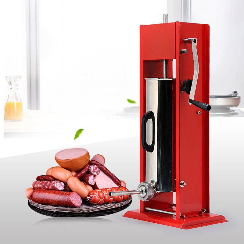 Durable Hand Crank Sausage Stuffer Red Color Sausage Filler Machine Odm Service